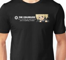 The Colorless Design 1337 front 2 Unisex T-Shirt