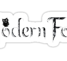 'Modern Folk' Black Sticker