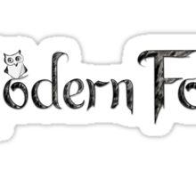'Modern Folk' White Sticker