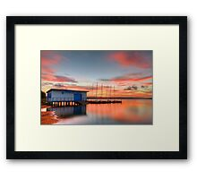 Nautical Glow. ( sunset ) Framed Print