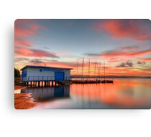 Nautical Glow. ( sunset ) Canvas Print