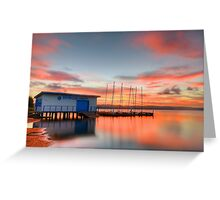 Nautical Glow. ( sunset ) Greeting Card