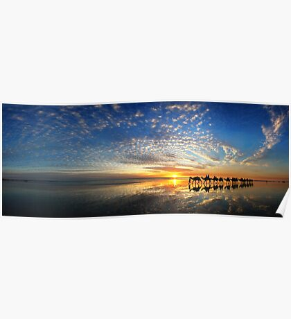 Cable Beach Icons Poster