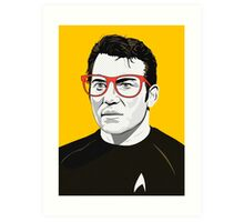 Star Trek James T. Kirk (William Shatner) Pop Art  illustration Art Print