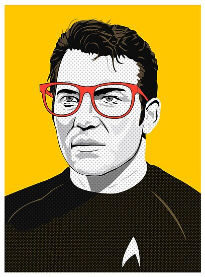 Star Trek James T. Kirk (William Shatner) Pop Art  illustration by Creative Spectator