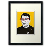 Star Trek James T. Kirk (William Shatner) Pop Art  illustration Framed Print