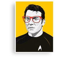 Star Trek James T. Kirk (William Shatner) Pop Art  illustration Canvas Print