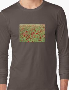 A Pasture Of Red Poppies and Remembrance T-Shirt