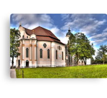 Pilgrimage Church of the Scourged Saviour - Steingaden Canvas Print