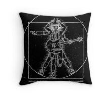 ac-dc leonard black Throw Pillow
