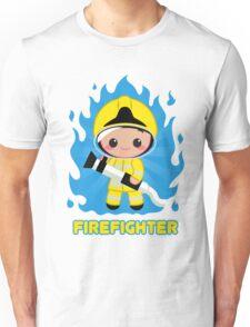 Cute Fire Fighter Yellow Unisex T-Shirt