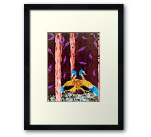 Cranes in the wood Framed Print
