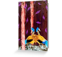 Cranes in the wood Greeting Card