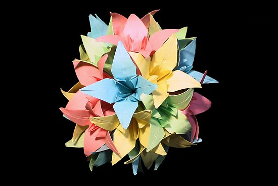 Origami Flowers #1-6 by jimmyzoo