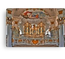 Pilgrimage Church of Wies - The Balcony Canvas Print