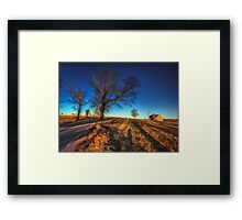 Along Hayfield Road March 2013 Framed Print