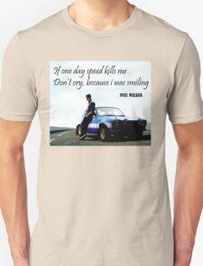 Paul Walker Fast Speed Killing T-Shirt