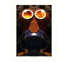 Mickey Mouse Inferno Art Print