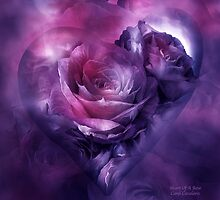 Heart Of A Rose - Burgundy Purple by Carol  Cavalaris