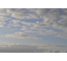 Open Sky With White Clouds 1 Photographic Print