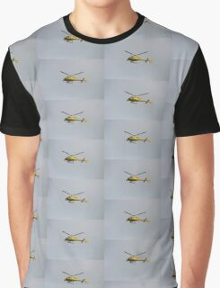 Yellow Helicopter Graphic T-Shirt