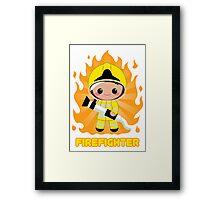 Cute FireFighter OY Framed Print