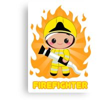 Cute FireFighter OY Canvas Print