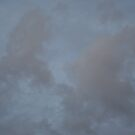Dark Blue Sky And White Clouds Against Night Sky 2 by Robbie Patterson