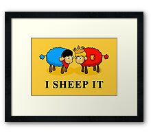 I Sheep it Framed Print