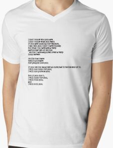 Taken - I Don't Know Who You Are... Mens V-Neck T-Shirt