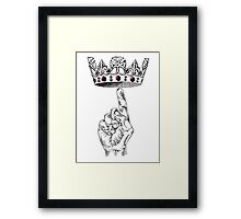 Point Crown Framed Print