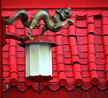 Chinese Dragon Street Light by Rae Tucker