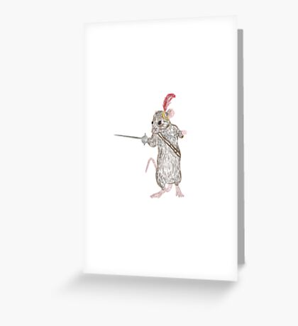 Narnia Reepicheep, the bravest of mice Greeting Card