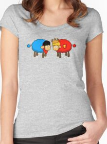 Merlin and Arthur Sheep Edition Women's Fitted Scoop T-Shirt