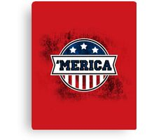 'MERICA T-Shirt. America. Jesus. Freedom. - The Campaign Canvas Print