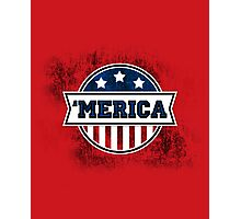 'MERICA T-Shirt. America. Jesus. Freedom. - The Campaign Photographic Print