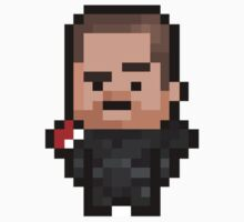 Pixel Commander Shepard (M) Sticker by PixelBlock