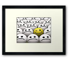 Winking smiley Framed Print