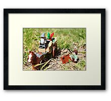 A Wizard is never late Framed Print