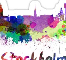 Stockholm skyline in watercolor Sticker