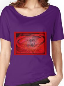 A Beating Heart Lay Resting - Greeting Card Women's Relaxed Fit T-Shirt