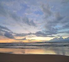 Sunset at Bentota Beach, Sri Lanka by LizTilbrook