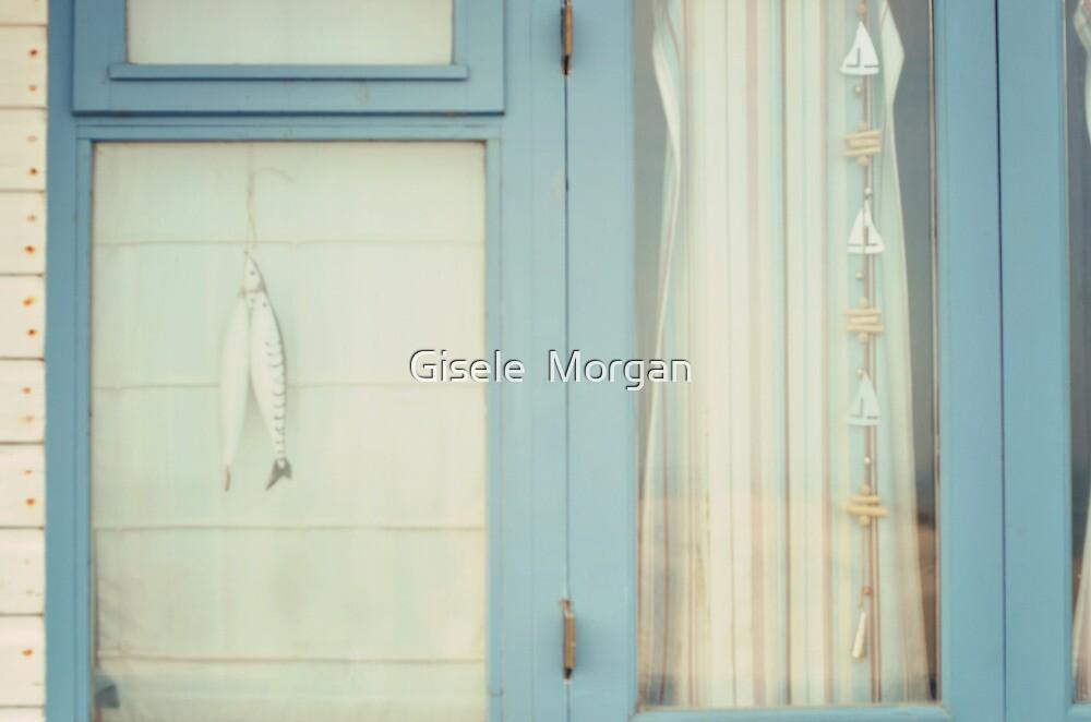 Beach Hut window. by Gisele  Morgan