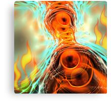 The Fire Ghost, abstract fractal artwork Canvas Print