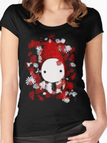 Poppet and Flowers Women's Fitted Scoop T-Shirt