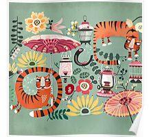 Tiger garden Poster