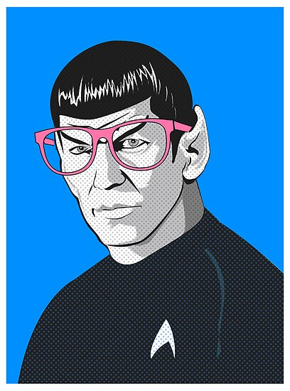 Pop Art Spock Star Trek  by Creative Spectator