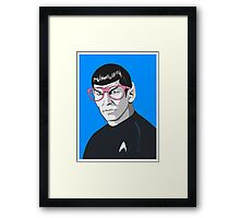 Pop Art Spock Star Trek  Framed Print