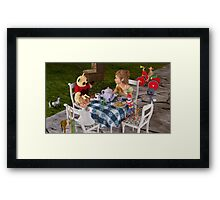 The Toy Tea Party Framed Print
