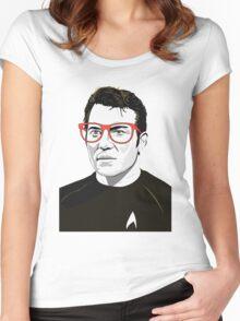 Pop Art Spock Star Trek  Women's Fitted Scoop T-Shirt